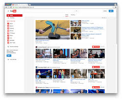 youtube is testing a flatter website design with less text more