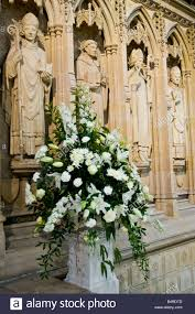 wedding flowers kent statues and wedding flowers inside rochester cathedral kent stock