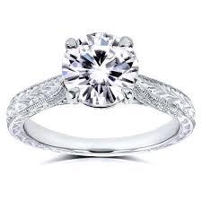 overstock engagement rings annello by kobelli 14k white gold 1 1 2ct tgw moissanite hi