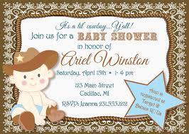 lil baby shower lil cowboy baby shower invitation sbgb90
