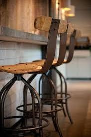 rustic industrial bar stools custom made reclaimed barnboard custom raw steel bar stools