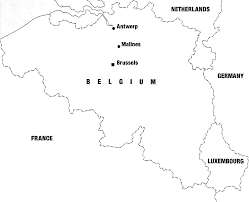 Map Of Belgium And France by Belgium And Its Jews During The War