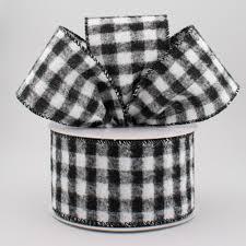 and black plaid ribbon 2 5 flannel gingham check plaid ribbon black white 10 yards