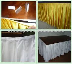 Cloth Table Skirts by Banquet Table Skirts With Box Pleat White Satin Table Skirts For