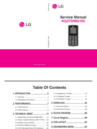 lg kg270 mg160 service manual modulation battery charger