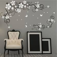 butterfly vine flower vinyl wall art stickers wall decals wall butterfly vine flower vinyl wall art stickers wall decals wall graphics