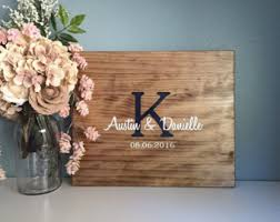 Rustic Wedding Guest Book Rustic Wedding Guest Book Alternative Original Heart U0026