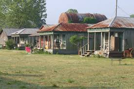 a row of sharecroppers u0027 houses on a clarksdale mississippi farm