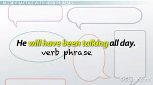 what is a verb phrase definition structure u0026 examples video