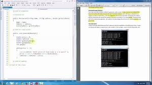 c programming object oriented design restaurant class example