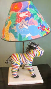 fruit stripe colorful zebra lamp with jungle shade u2014 casa