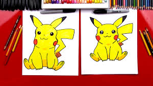 how to draw pikachu art for kids hub