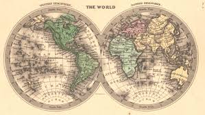 Blank Hemisphere Map by Maps Antique Hemisphere Western Hemisphere