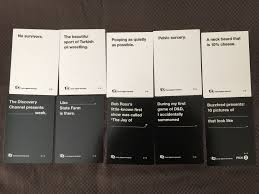 cards against humanity reject pack pax 2014 prime panel pack cards against humanity database