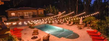 Outdoor String Lights Patio Market Lights String Lights Backyard Wedding Lighting In San