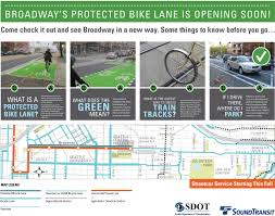 Seattle Traffic Map by Seattle Department Of Transportation Broadway Protected Bike Lane