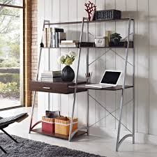 Bookcase With Ladder Altra Walnut Ladder Desk With Tower Bookcase 9803096
