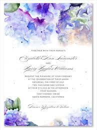 hydrangea wedding hydrangea wedding invitations on seeded paper hydrangea