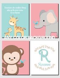 Kids Room Prints by Jungle Nursery Decor Jungle Animals Wall Art Nursery Art