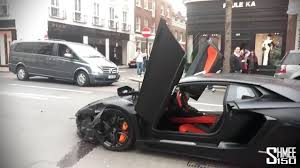 crashed red lamborghini watch dramatic moment a roaring 300k lamborghini takes off after