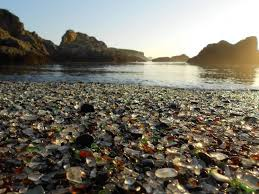 beach nature sea sunlight rock pebbles glass landscape