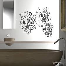 wandtattoo badezimmer badezimmer fischschwarm wandaufkleber fische