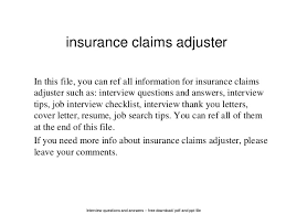 property claims adjuster resume adjuster cover letters