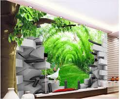 Cheap Wall Mural Online Get Cheap 3d Tunnel Mural Aliexpress Com Alibaba Group