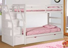 White Bunk Bed With Trundle 70 Best Bunk Beds Images On Pinterest Bunk Beds 3 4 Beds And