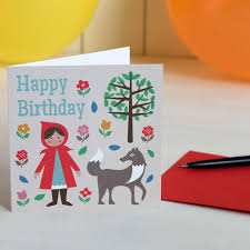 red riding hood birthday card dotcomgiftshop