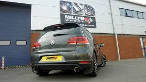 volkswagen golf custom golf mk6 gtd with milltek sport cat back