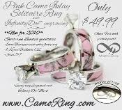 Pink Camo Wedding Rings by Camo Wedding Rings