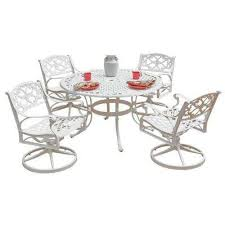 Swivel Patio Dining Chairs Biscayne Patio Dining Sets Patio Dining Furniture The Home Depot
