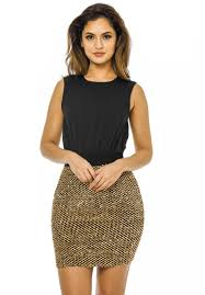 women u0027s 2 in 1 gold sequin skirt black gold dress ax paris usa