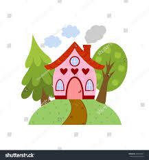 cute little house cute little house on hill vector stock vector 498232441 shutterstock