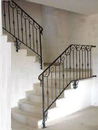 Wrought Iron Railings Interior Stairs Sweet Interior Wrought Iron Railings Feature Brown Stained Wooden