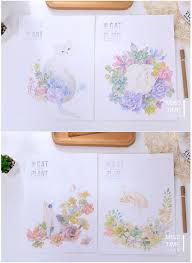 writing paper set popular writing paper pad buy cheap writing paper pad lots from hand draw forest plants cartoon cat life letter pad paper 6 sheets letter paper 3