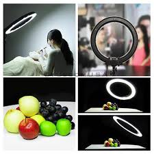 circle light for video 19 75w video portrait photography dimmable ring light yescomusa