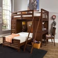 Double Loft Bed With Desk Foter - Double loft bunk beds