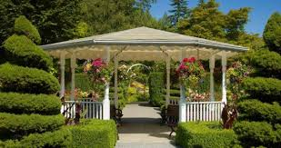 Outdoor Wedding Gazebo Decorating Ideas Lawn U0026 Garden Decoration For Garden Come Brown Laminated Wooden
