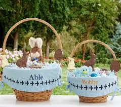 easter baskets for sale embroidered easter basket liners pottery barn kids