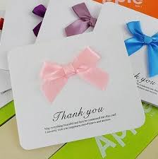 online thank you cards simple mini thank you card adorned with bowknot