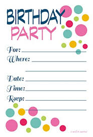 birthday party invitations or birthday party invitations colorful dots