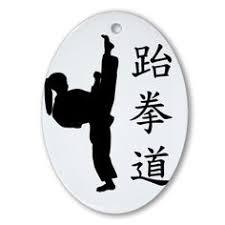 usa taekwondo kick 1 ceramic ornament