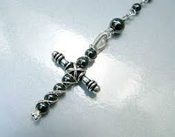 hematite rosary hematite rosary and cross clearlyhelena