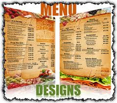 Designs Of Menu Card Surya Printers U0026 Advertisers