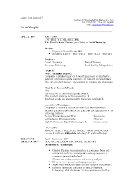 resume for exles sle resume science graduate resume for college student