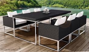 canape jardin aluminium table et 6 fauteuils encastrable de qualité en résine tressée