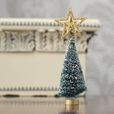small gold tree topper miniatures and