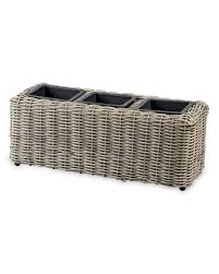 Aldi Rattan Garden Furniture 2017 Triple Rattan Effect Planter Aldi Uk